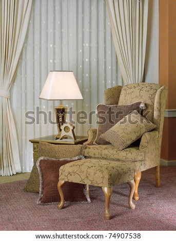 The relax conner in luxury living room - stock photo