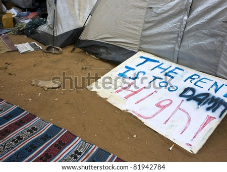 The rent is too high - stock photo