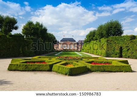 The restored chateau in Dobris in Czech Republic - stock photo