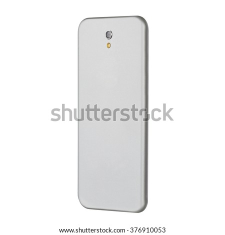 The reverse side of the smartphone to the camera lens - stock photo