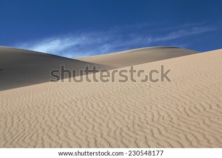 The Rippled Sand of Great Sand Dunes National Park, Colorado - stock photo