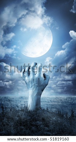 The risen dead man - stock photo