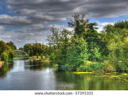 The River Forks - stock photo