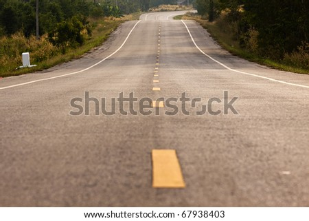The road - stock photo