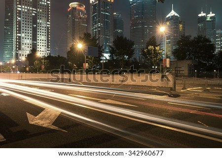 the road in the city - stock photo