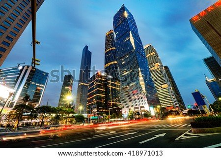 The road in the city of shenzhen,china - stock photo