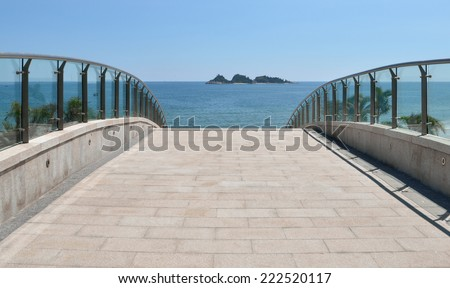 The road leading to the beach  - stock photo