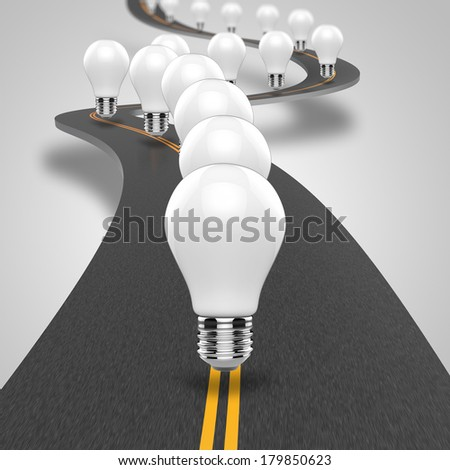The road leading to the ideas and inspiration - stock photo