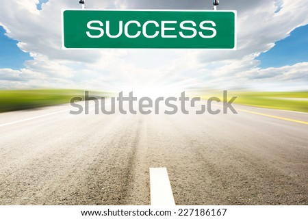 The road to success,Great project ahead - stock photo