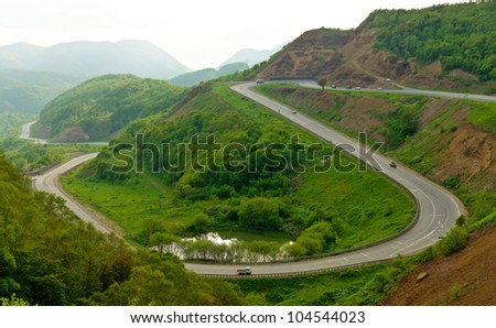 The road to the sea. - stock photo