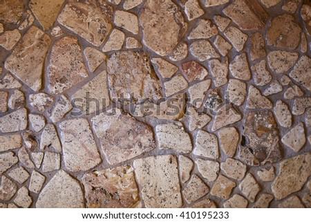 The Rock wall seamless texture. Stone texture. Yellov stone pattern. - stock photo