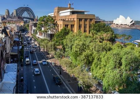The Rocks on Circular Quay in Sydney - stock photo