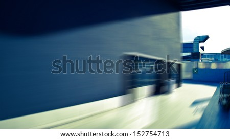 The roof of high-rise - stock photo