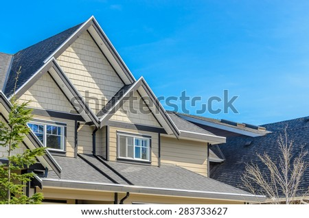The roof of the house. - stock photo