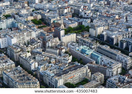The rooftops of Paris - stock photo