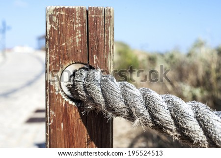 the rope - stock photo