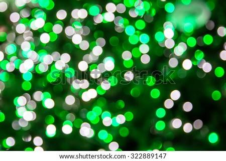 The round shape green illuminated LED lighting bokeh background - stock photo
