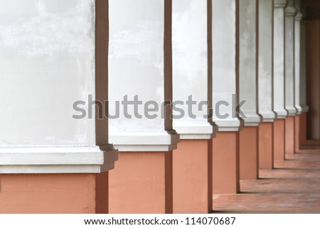 The row of classical columns - stock photo