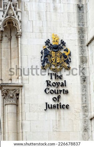 The Royal Courts of Justice in London. - stock photo
