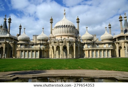 The Royal Pavilion a former Royal residence located in Brighton, England, East Sussex, UK - stock photo