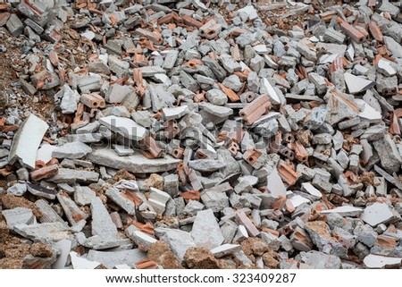The ruins of brick building - stock photo