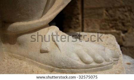 The Saint foot - stock photo
