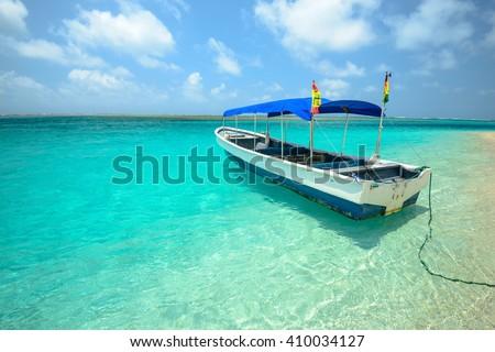 The San Blas Islands in Panama - stock photo