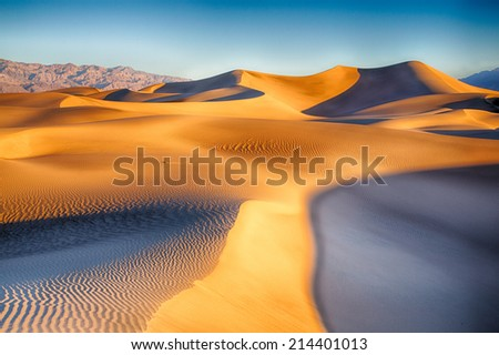 The sand dunes of Death Valley National Park, California, USA. - stock photo