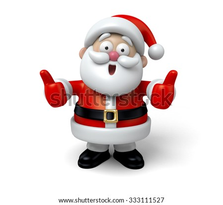 The Santa Claus makes a personalized gesture - stock photo