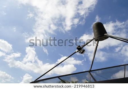The Satellite Signal Receiver Dish. - stock photo