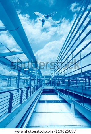 the scene of T3 airport building in beijing china.interior of the airport. - stock photo