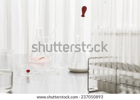 The scene of the scientific experiment room - stock photo