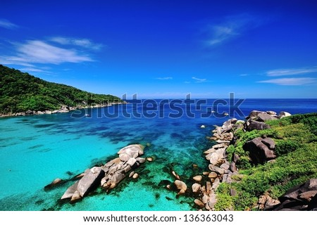 the sea - stock photo
