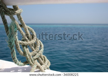 The sea rope - stock photo