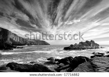 The seacoast of Ireland - stock photo