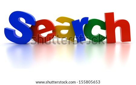 The search color text on a white background - stock photo