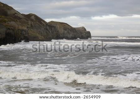The seaside rocks - stock photo