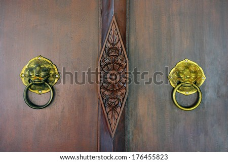 The security of the door. - stock photo