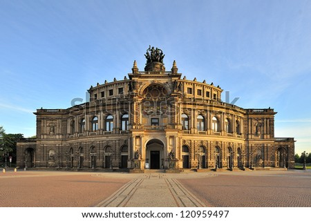 The Semper Opera house of Dresden, Germany - stock photo