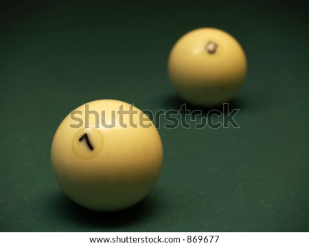 The seventh and thirteenth balls [3] - stock photo