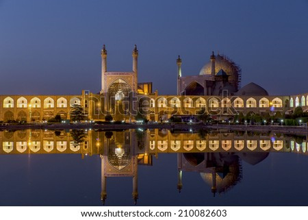 The Shah Mosque in Isfahan,Iran - stock photo