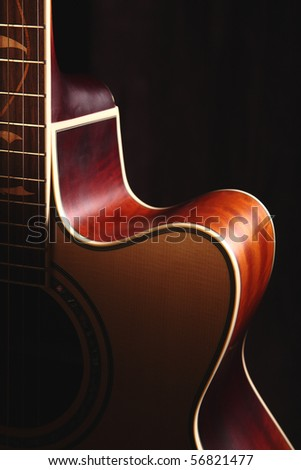 The shape of a guitar - stock photo