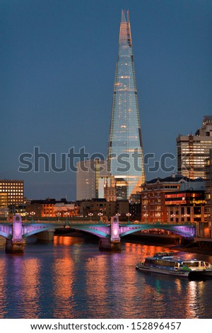 The shard building in London - stock photo