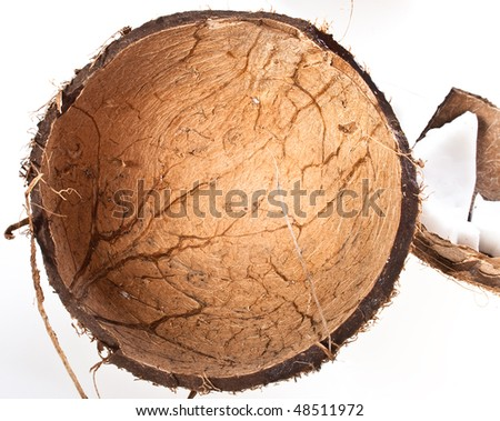 The shell of a coconut - stock photo