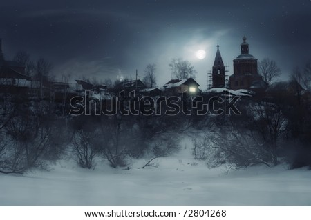 The shelter in the night - stock photo