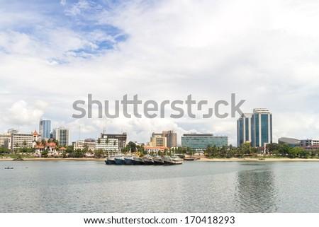 The shores of the Indian Ocean in Dar es Salaam, Tanzania - stock photo