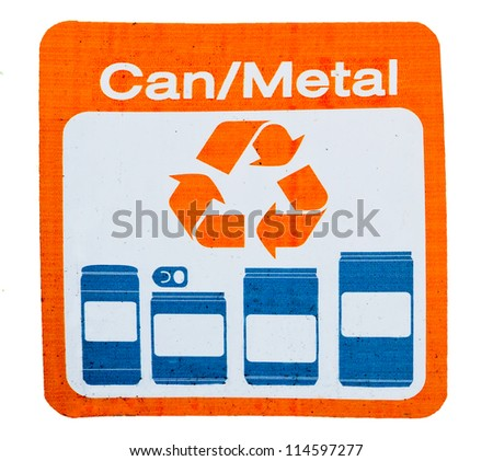 The Sign of recycle can and metal - stock photo