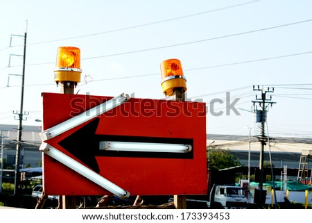 The Signalling light on the way - stock photo