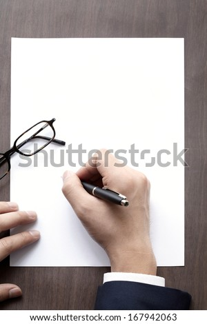 The signature and pen. - stock photo