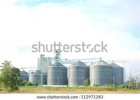 The Silo in animal food production - stock photo